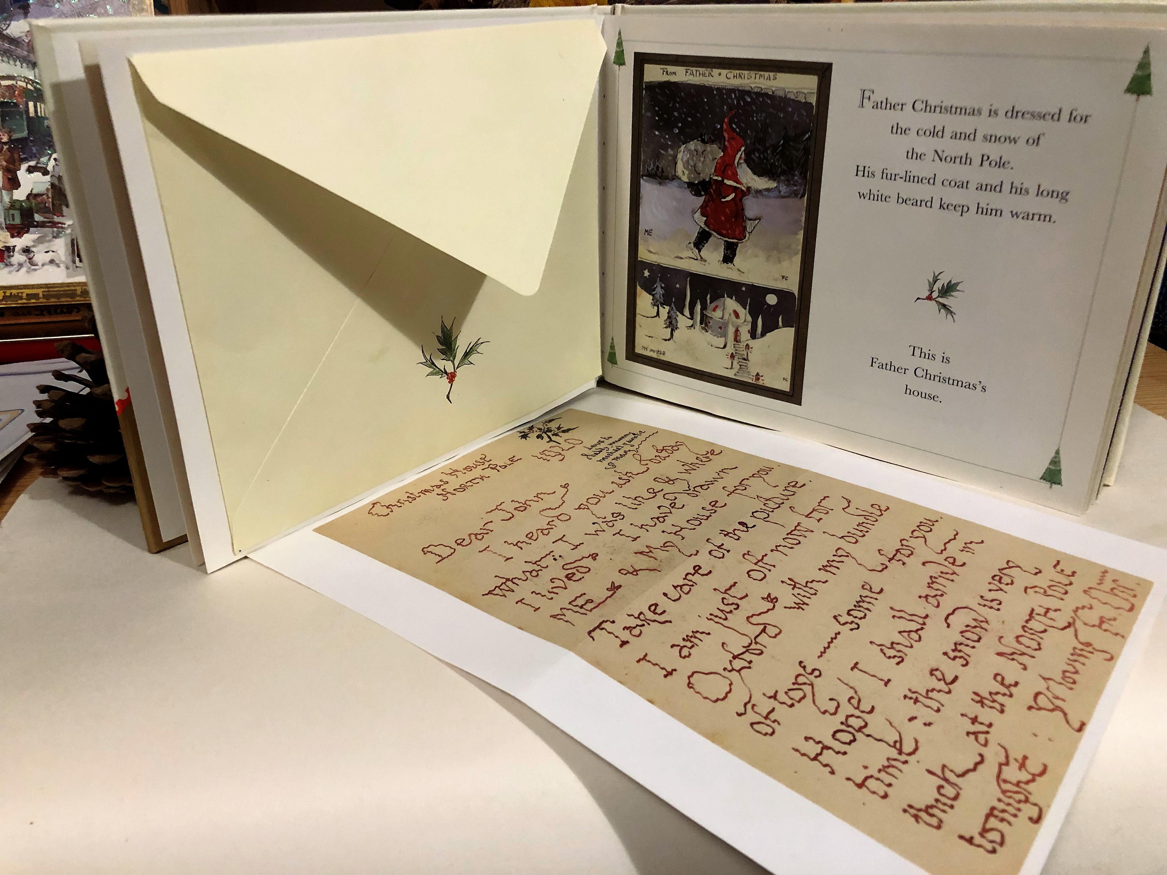 サンタクロースの手紙は、字が震えている。