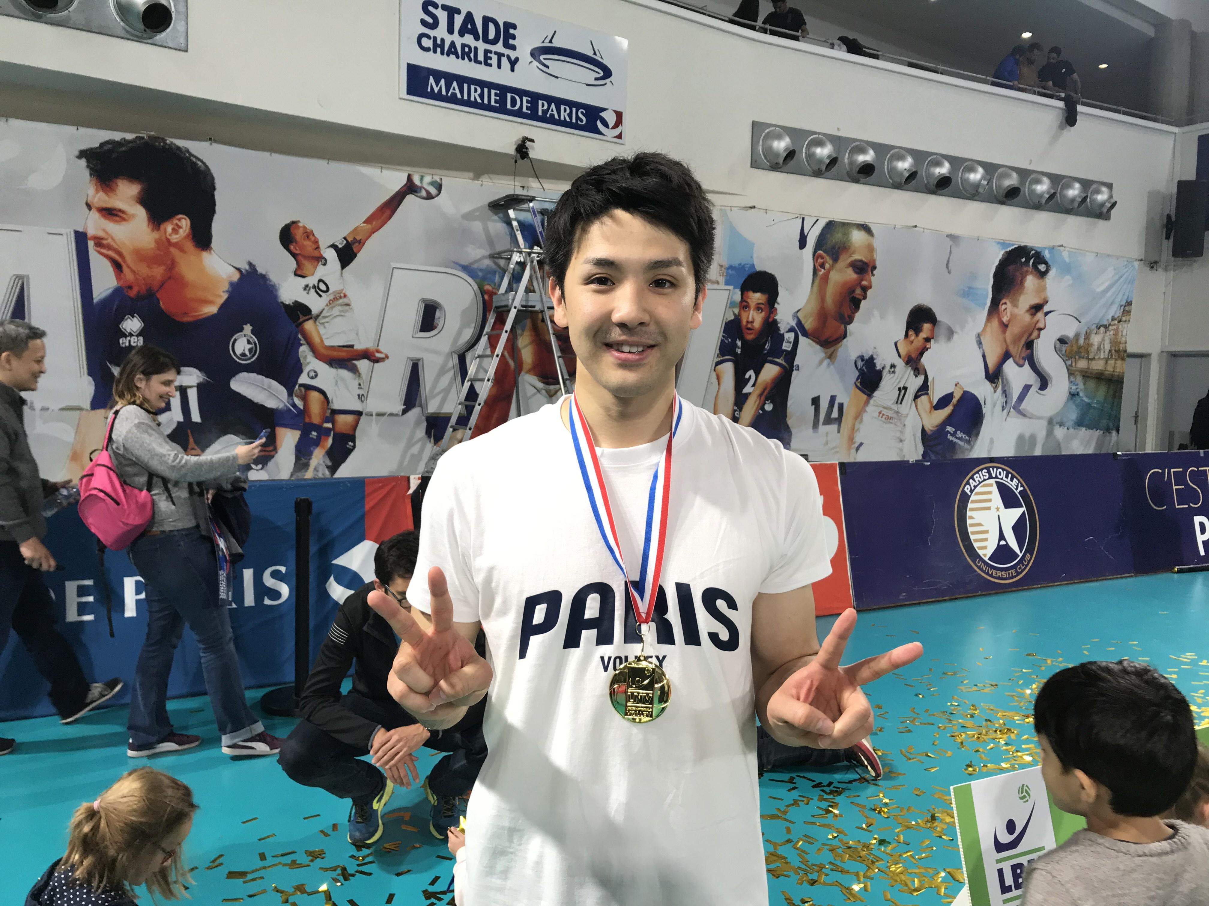 フランスで活躍! 若き日本人バレーボール選手