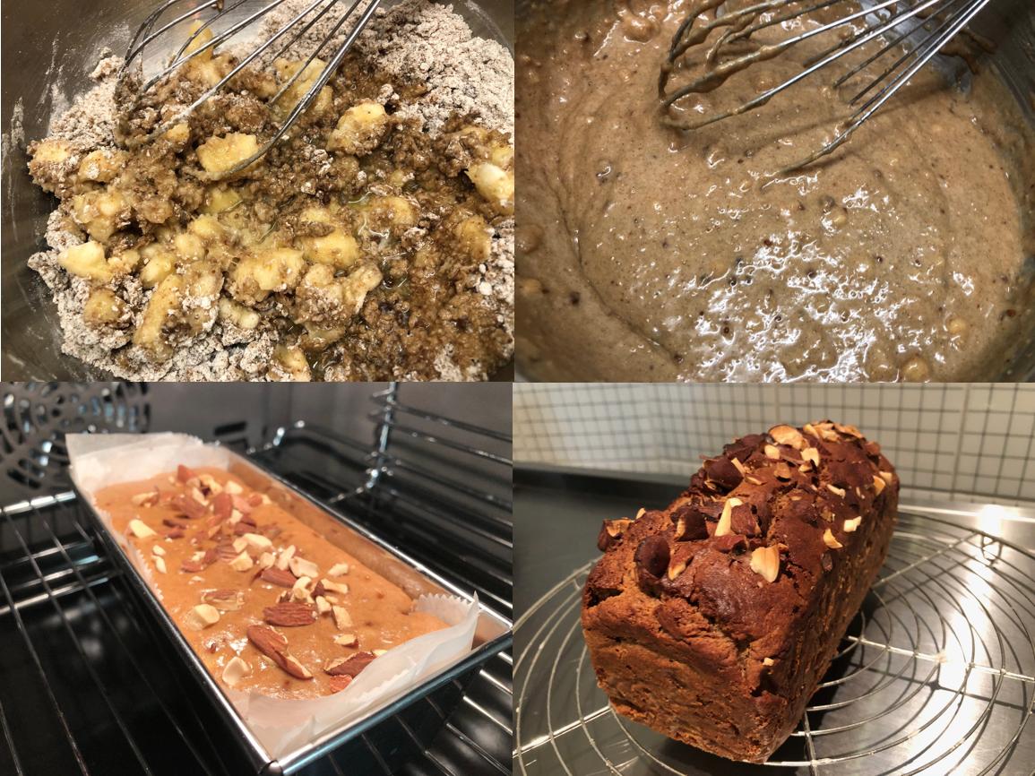 なぜグルテンフリー? ぐるぐる、グルテンフリーのバナナケーキ作り