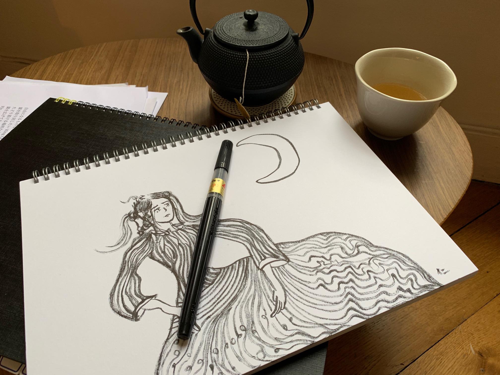 滞仏日記「月が好きな人はだれもが月族なのです」