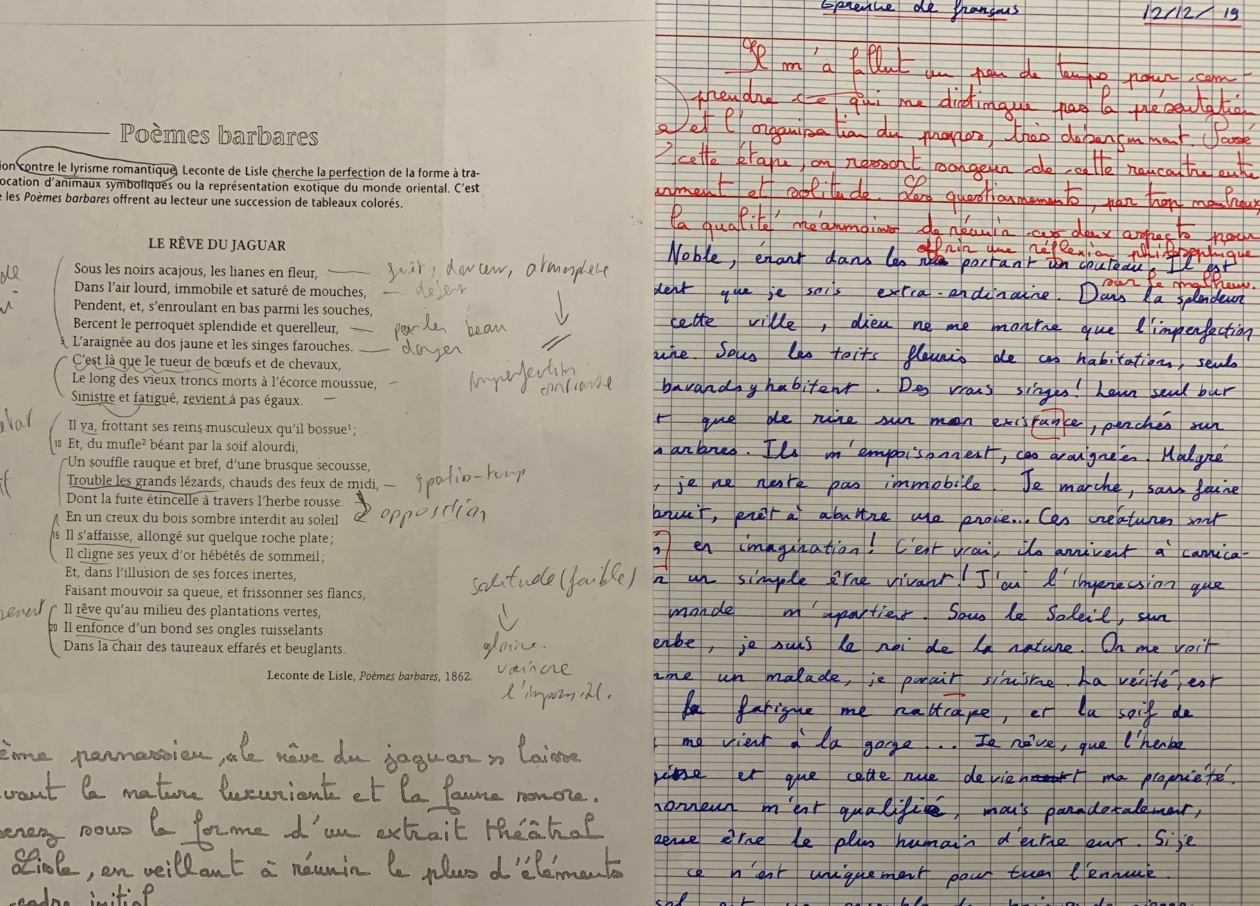 滞仏日記・続「試験結果と将来のこと、父子の立ち話」