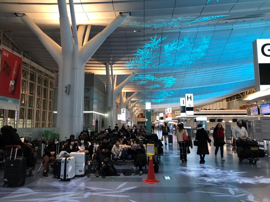 滞仏日記「飛行機が一日遅延、ぼくは羽田空港で不安な夜」