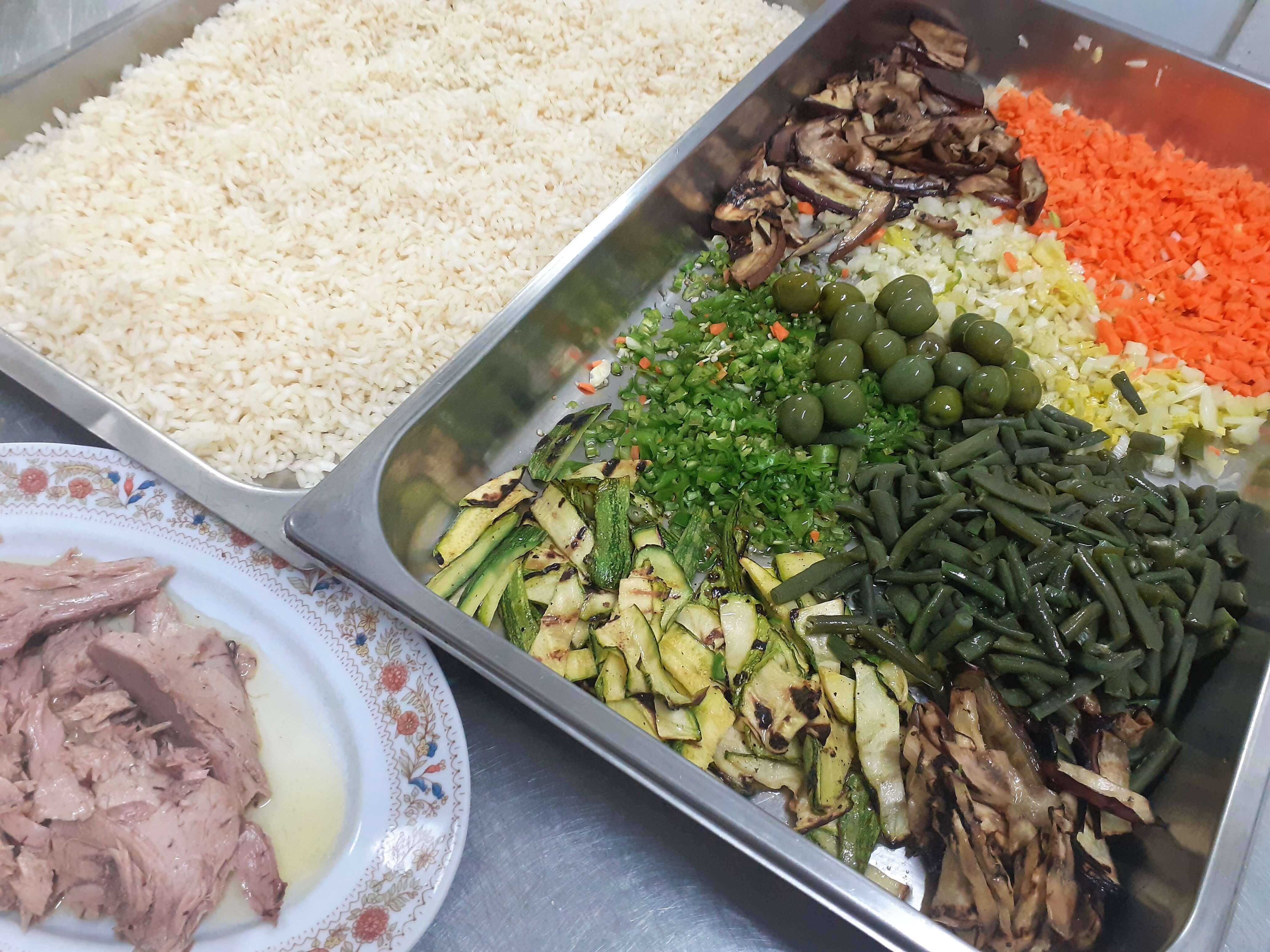 q.b.レシピのないレシピ帳 ~お米のサラダ~