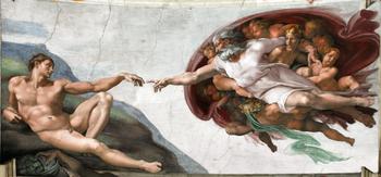 退屈日記「水漏れで崩落した天井に壁画を描く」