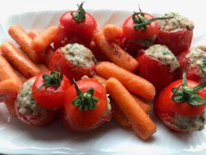 息子のための料理教室「トマトファルシとにんじんグラッセ」