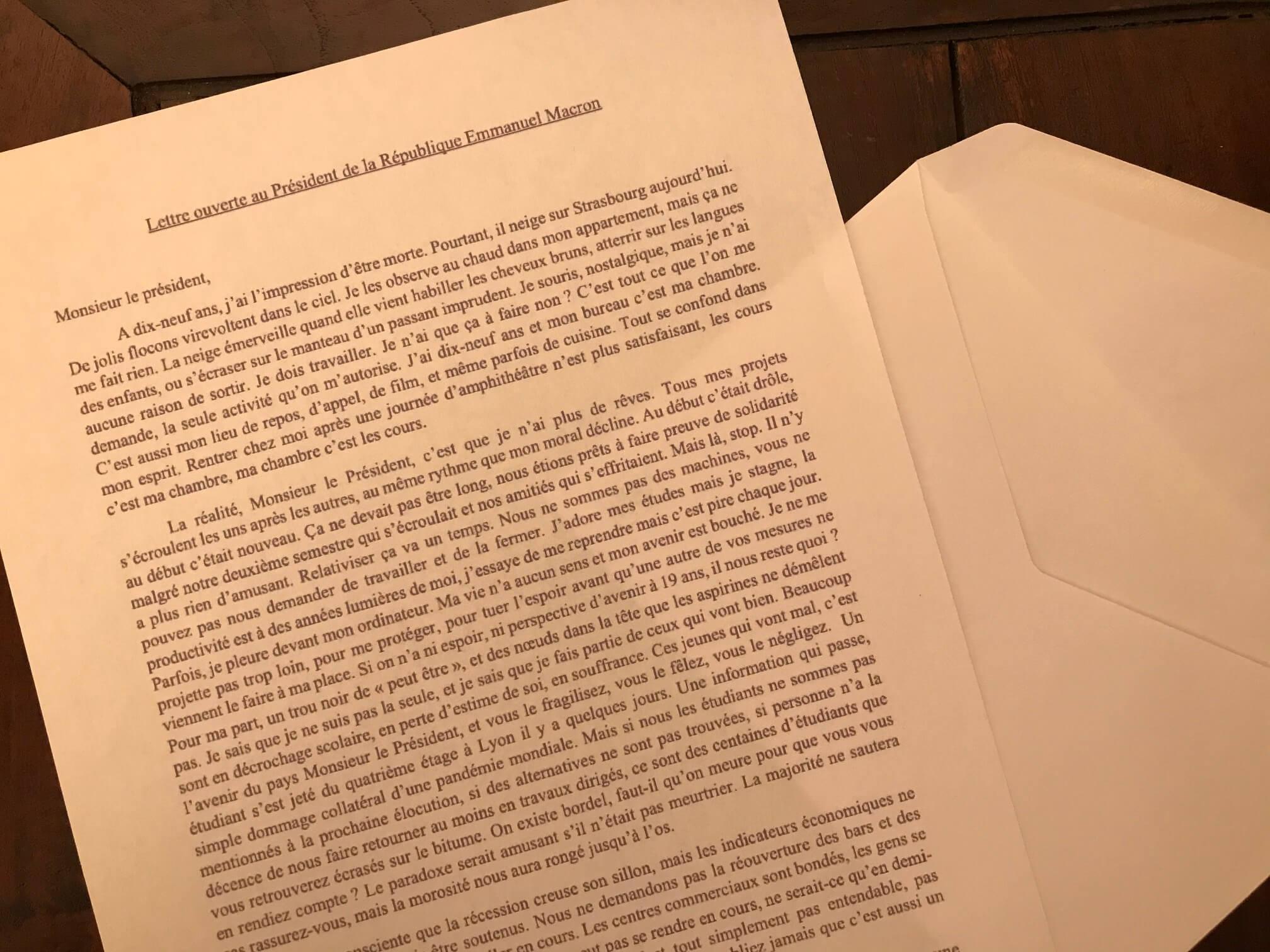 速報・パリ最新情報「19歳のハイジさんが、マクロン大統領にあてた衝撃の手紙」