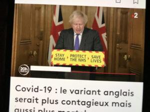 速報・欧州最新情報「英国発の変異株、従来型より高い死亡率か!? 英首相発表」