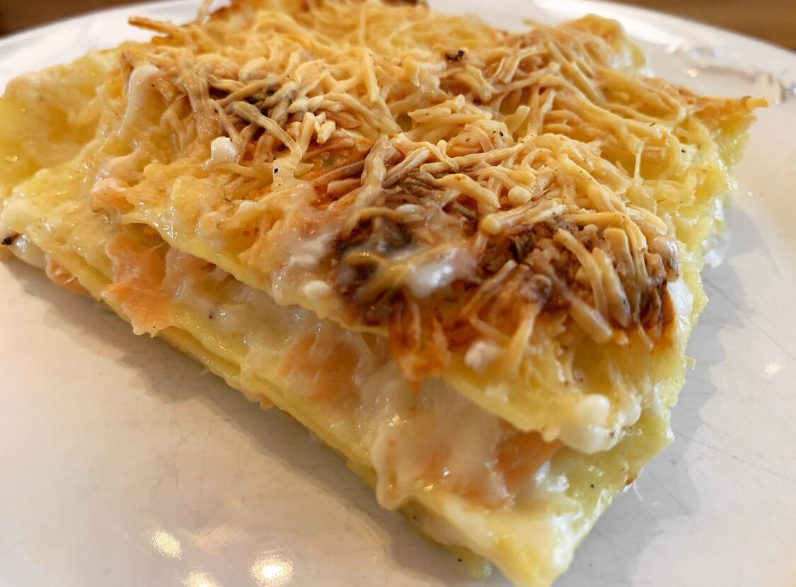 父ちゃんのレシピ「すぐできる。本格的なのに簡単美味いサーモンのラザニア」